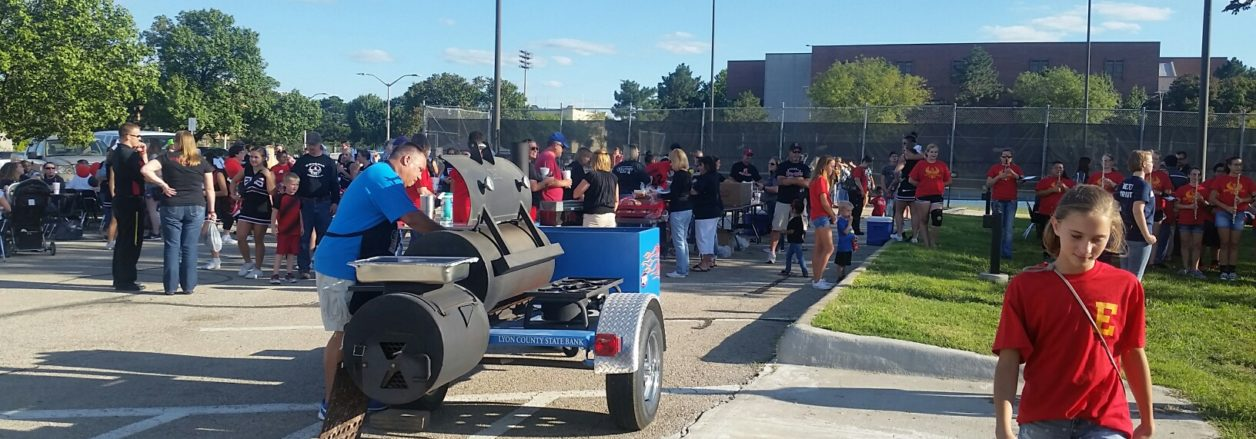 LCSB tailgates with EHS Spartans