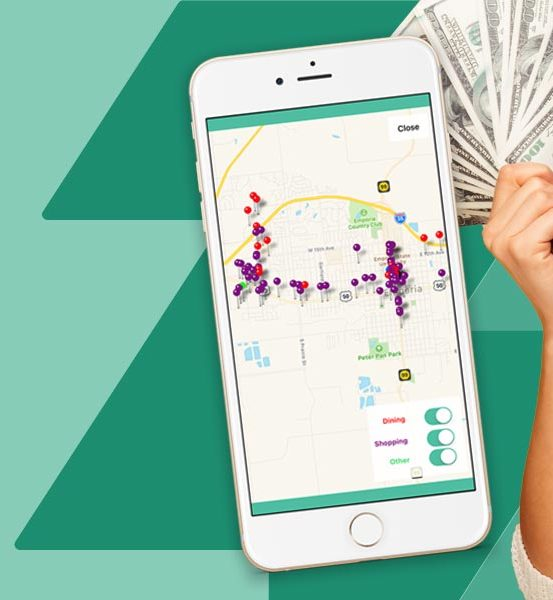 woman saving money with Bazing app