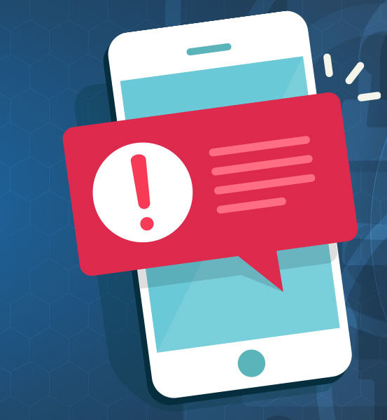 Mobile phone with SMS Guardian text alert