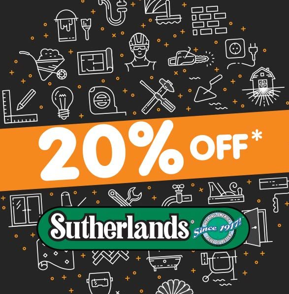 Sutherlands Sale 20% off